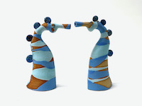 Photo of Two stripy seahorses